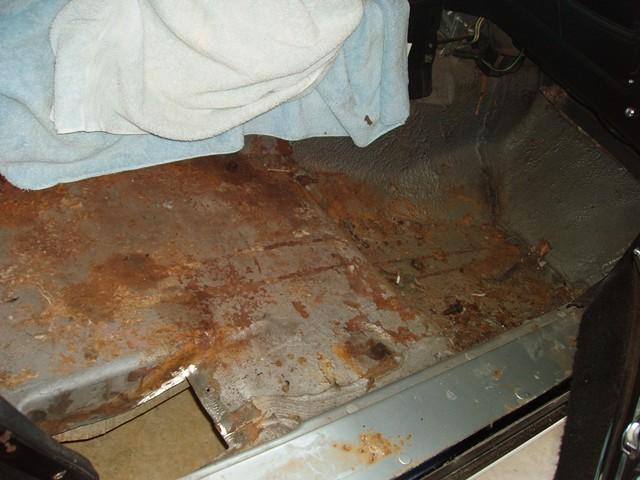 Passenger Side Floor Pan Rust