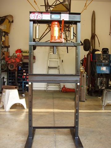 Homemade Hydraulic Press - HomemadeTools.net